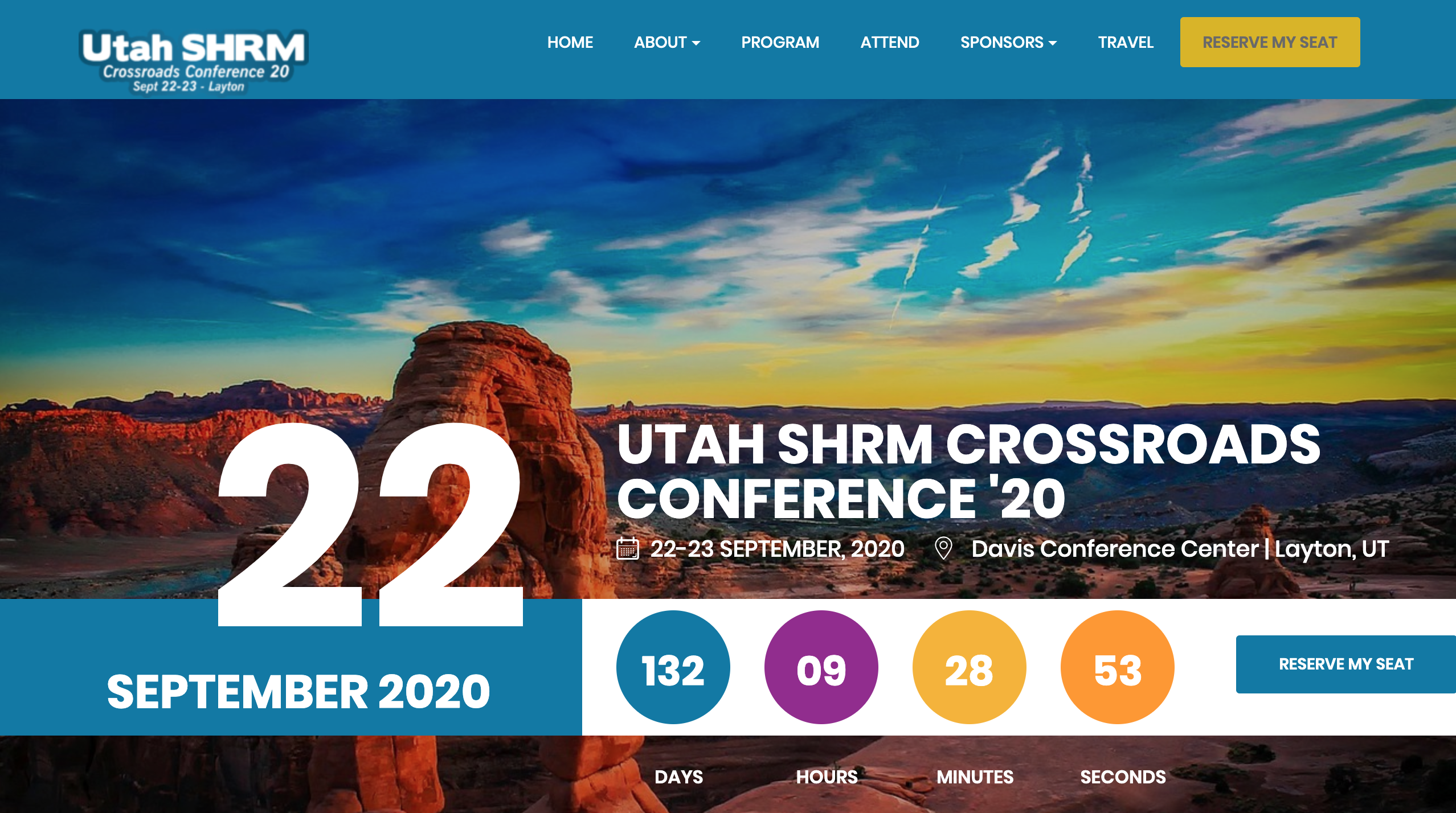 Utah Crossroads Conference website screenshot