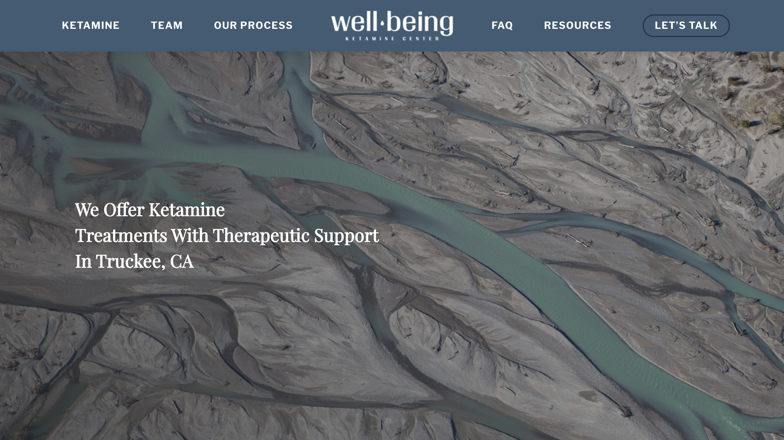 Well Being Ketamine website screenshot