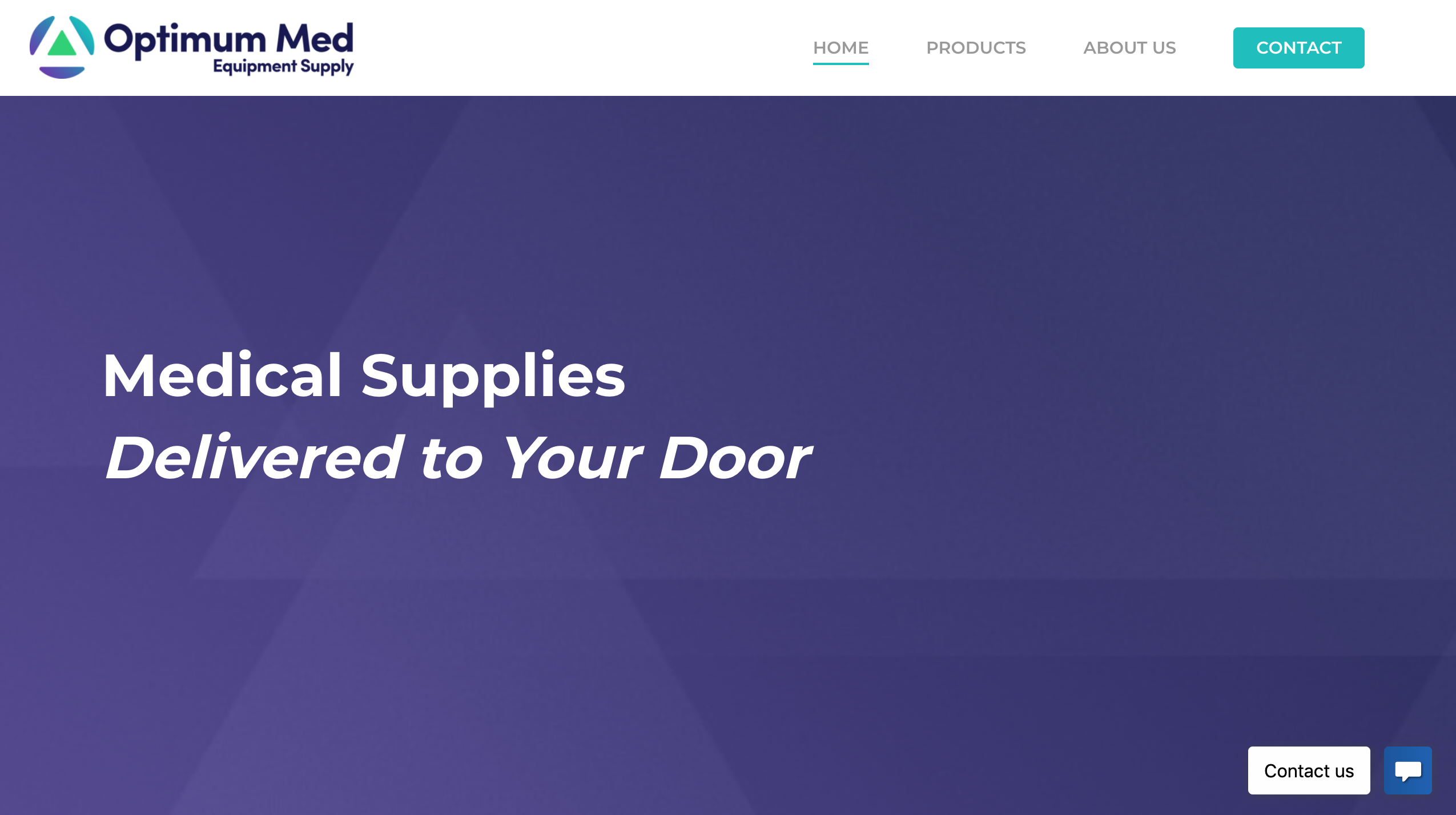 Optimum Med Equipment Supply website screenshot